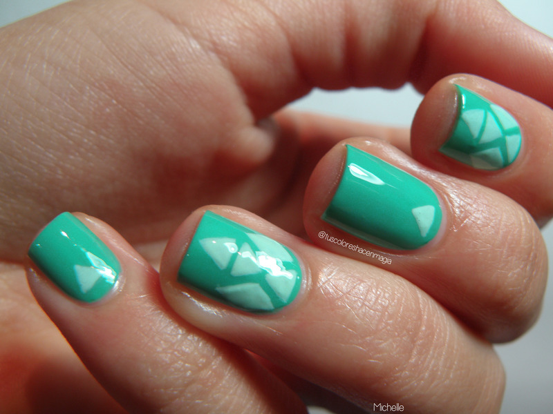 Geometric nail art nail art by Michelle Mullett
