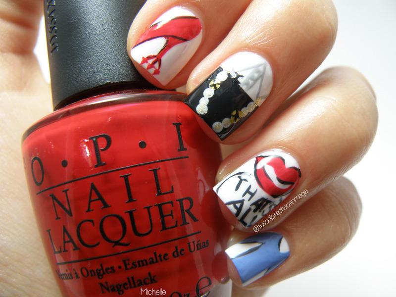 The devil wears Prada nail art by Michelle Mullett