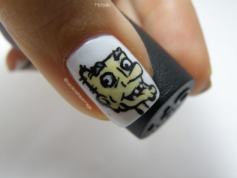 Arnold's grandpa! nail art by Michelle Mullett