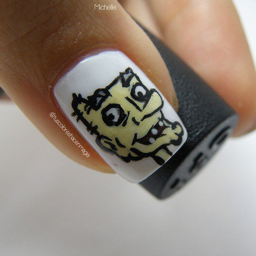Arnold's grandpa! nail art by Michelle Mullett