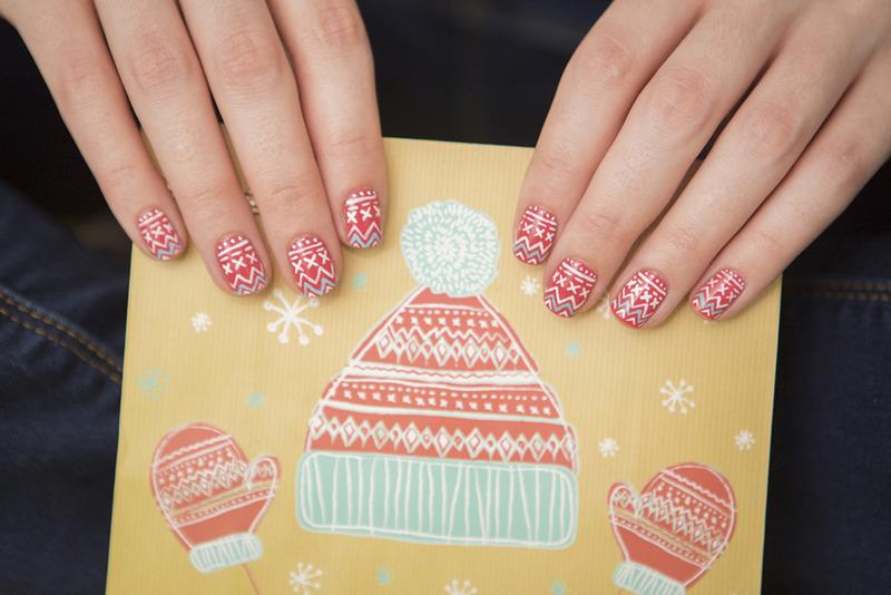 Winter 2 nail art by Magdalena