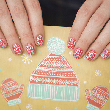 Winter 2 nail art by Magdalena