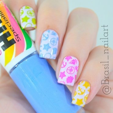 Summer Nails nail art by Brasil_nailart