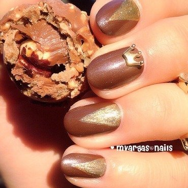 Chocolate heaven  nail art by Massiel Pena