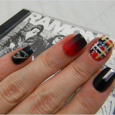 Punk Rock nails nail art by Yami