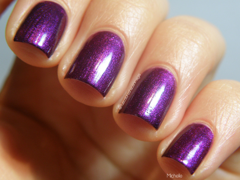 Maybelline Colorshow Plum Paradise 280 Swatch by Michelle Mullett
