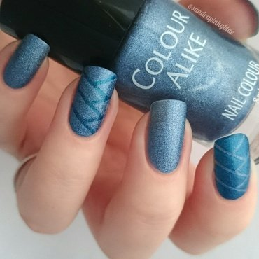 Braid effect nail art by Pinkyblue Nailart
