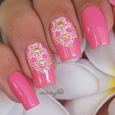 Pretty Lotus nail art by xNailsByMiri
