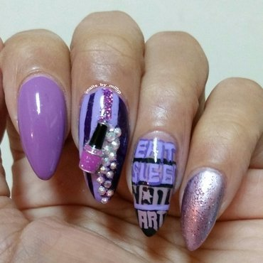 EAT SLEEP NAIL ART nail art by Milly Palma
