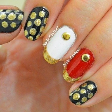 French Gold Manicure nail art by NailsContext