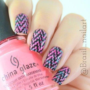 Zigzag nail art by Brasil_nailart