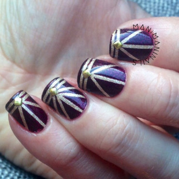 Art deco  nail art by manimaninails