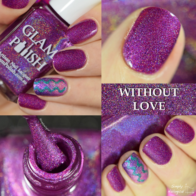 Glam Polish Without Love Swatch by simplynailogical