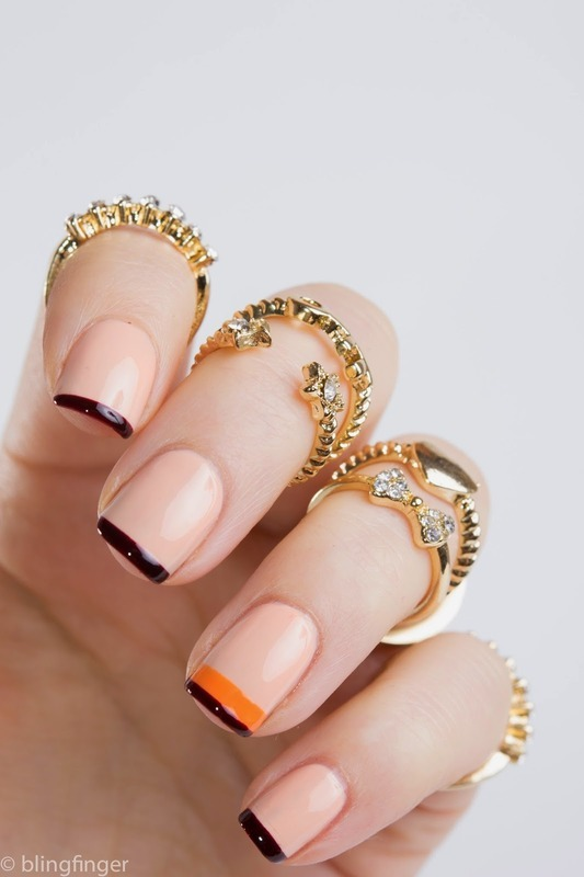 Knuckle Rings & Nail Art nail art by  Petra  - Blingfinger