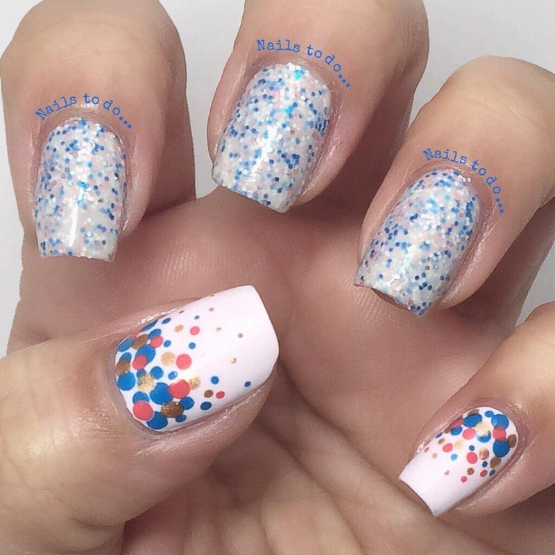 Sprinkles nail art by Jenny Hernandez