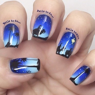 Three Kings nail art by Jenny Hernandez