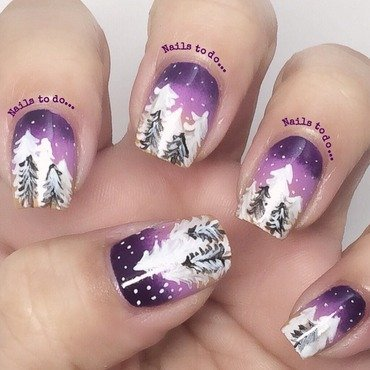 Winter is here nail art by Jenny Hernandez