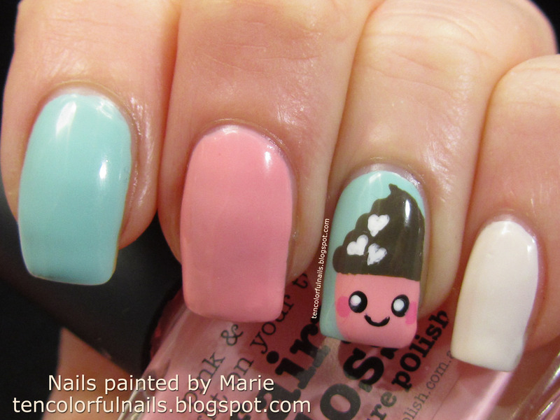 Kawaii Cupcake Nail Art - Kawaii Cupcake Nail Art Nail Art By Marie - Nailpolis: Museum Of