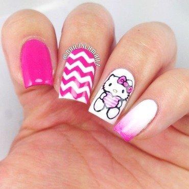 Hello Kitty V-day nail art by Eterna Santos