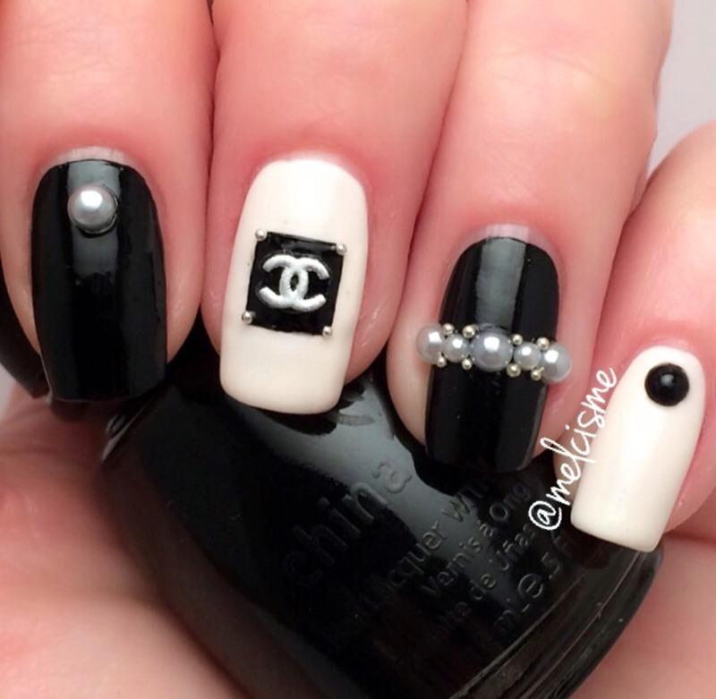 Chanel nail art by Melissa