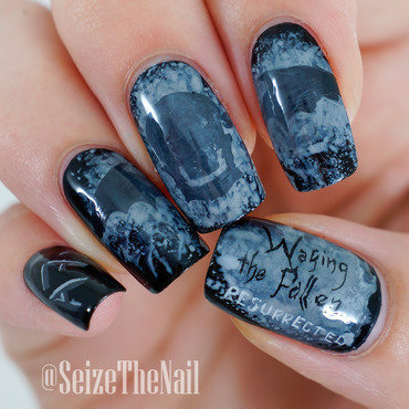 Avenged Sevenfold - Waking The Fallen album art nail art by Bella Seizethenail