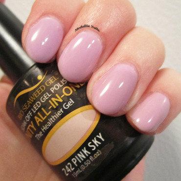 Bio Seaweed Gel Pink Sky Swatch by Medollie  Nails
