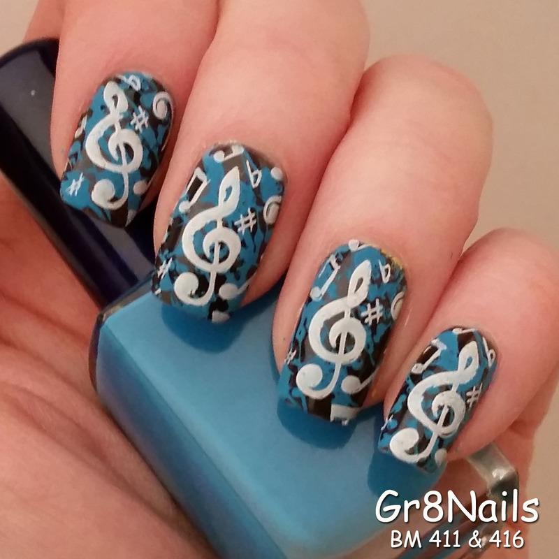 Music Notes Nail Art By Gr8nails Nailpolis Museum Of Nail Art