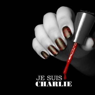 Je suis Charlie nail art by OnailArt
