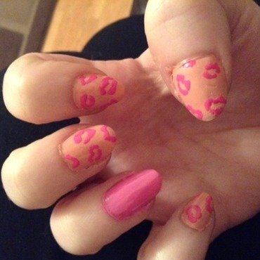 Pink For Leelah nail art by Lucy