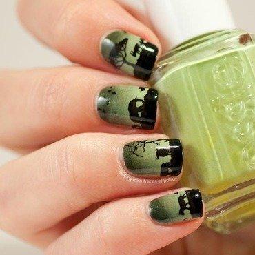 Savannah silhouette nail art by Zara TracesOfPolish