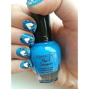 Confetti Blue nails nail art by Neve212