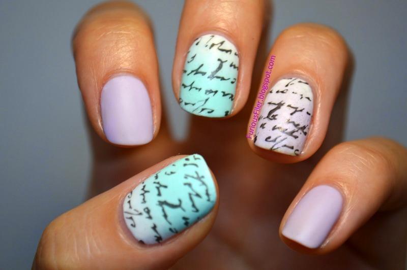 Scribbles scribbles nail art by Furious Filer