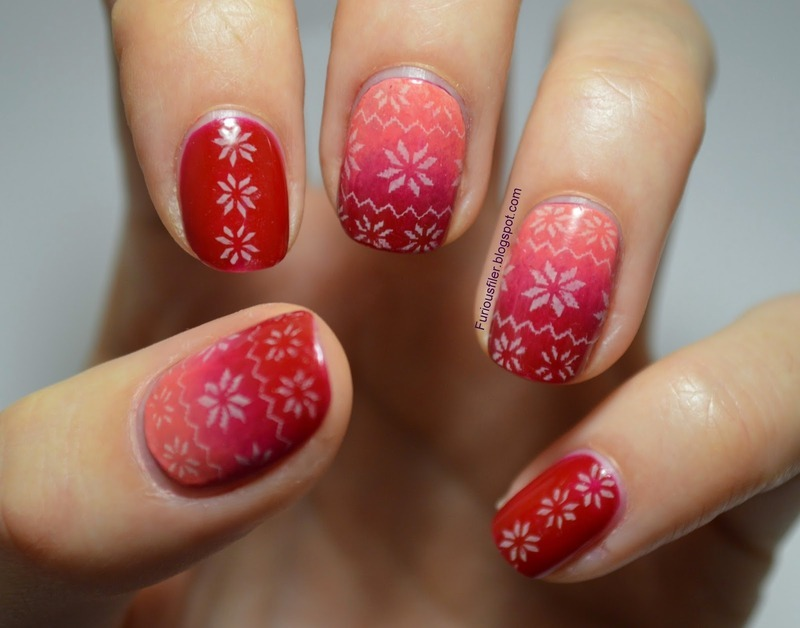 Christmas Jumper nail art by Furious Filer