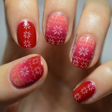 Christmas Jumper nail art by Furious Filer