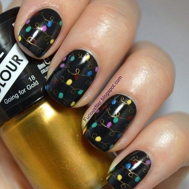 Glam Christmas nail art by Furious Filer