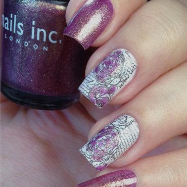 """Nails Inc. """"Wardour mews"""" & Stamping nail art by Natasha"""