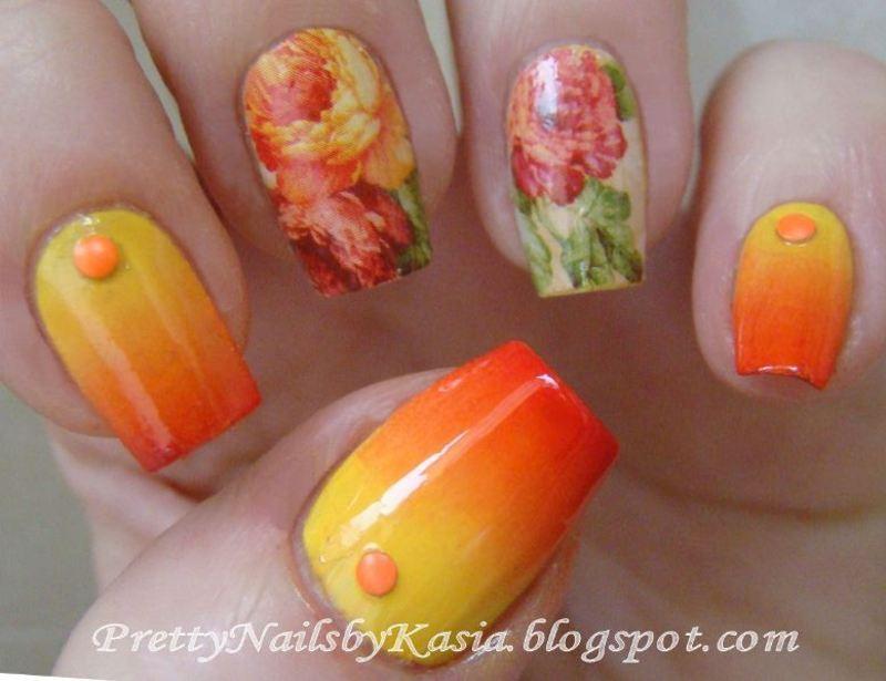 I miss springtime :) nail art by Pretty Nails by Kasia