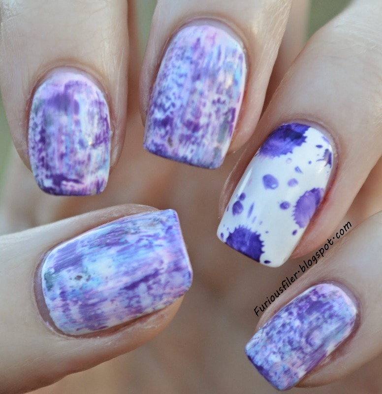 Distressed nails! nail art by Furious Filer