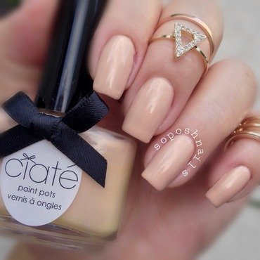Ciaté Ivory Queen Swatch by Debbie