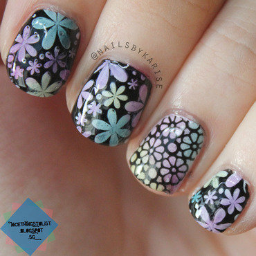 Bornprettystore flower stamping nail art thumb370f