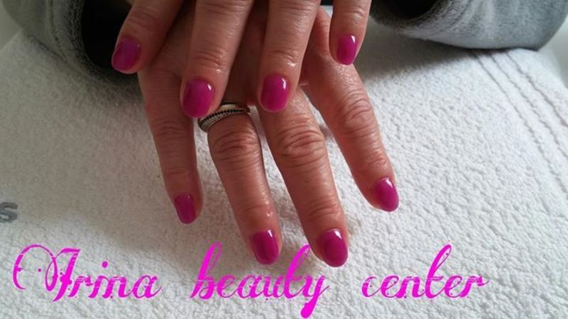 pink nail art by Irina