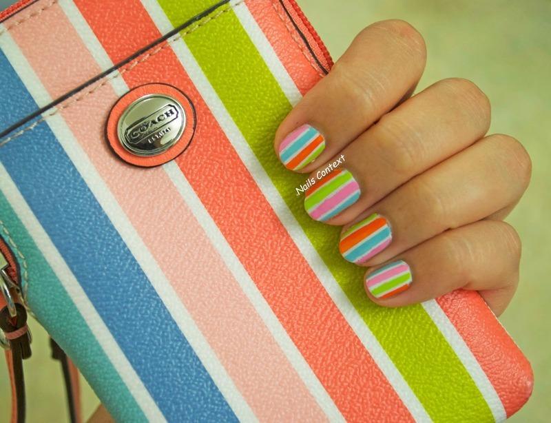 Coach Inspired nail art by NailsContext