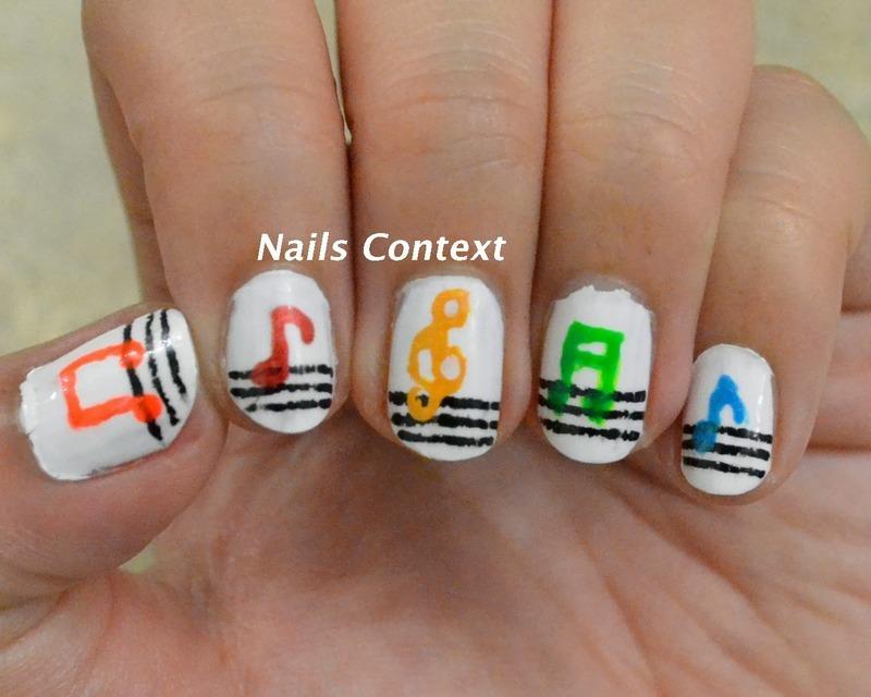 Music To My .... nail art by NailsContext