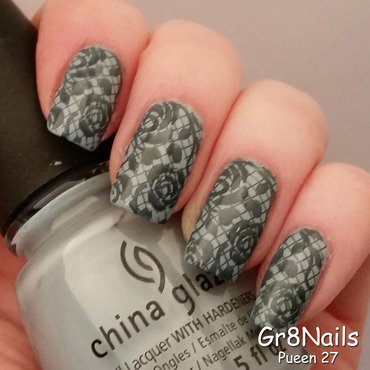 Lace nail art by Gr8Nails
