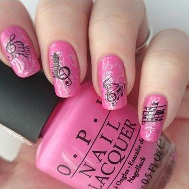 Music nail art by Pinkyblue Nailart