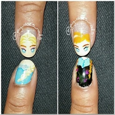 Frozen! nail art by Jaya Kerai