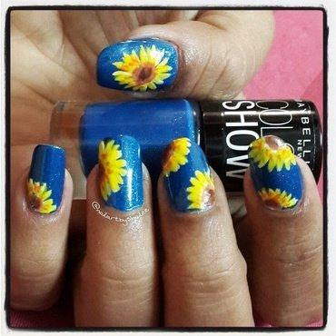 Sunflower nail art! 🌻 nail art by Shailee