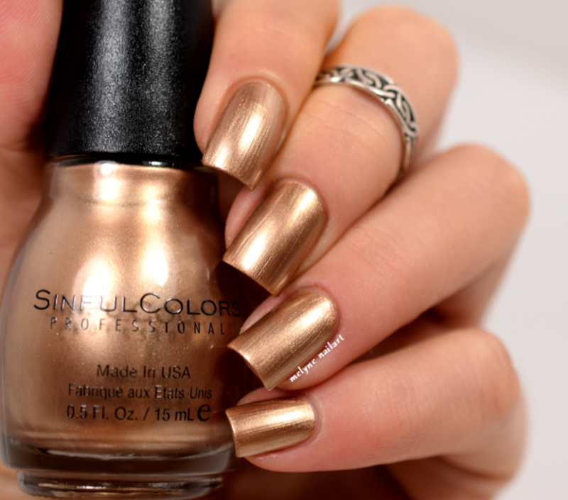 Sinful Colors Gold Medal Swatch by melyne nailart