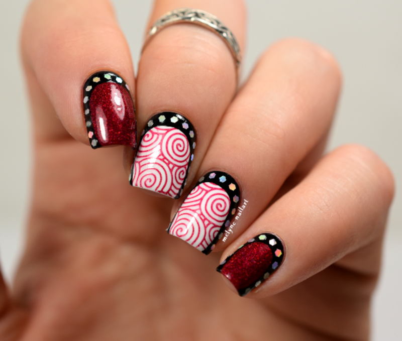nail art stamping and ruffian nail art by melyne nailart
