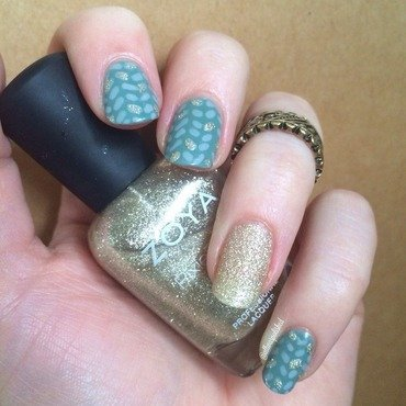 Cable Knit nail art by allwaspolished